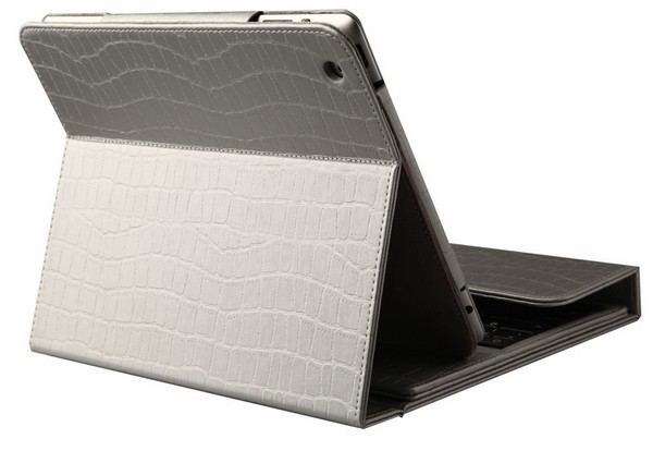 iPad Case with Wireless Keyboard Silver