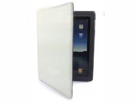 Real Leather Case With Belt for iPad2/3/4 White Snake